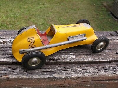 Thimble Drome Special Yellow #2 Pusher Tether Car