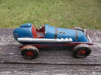 Vintage Wood Body Pusher Tether Car With Tin Baloon 15 X 9.00 Wheels