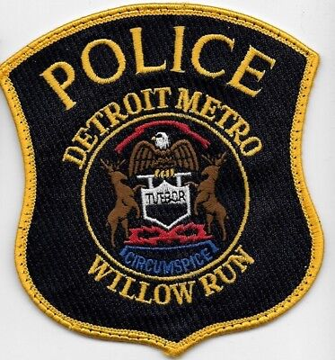 Detroit Metro Police Willow Runn Michigan Mi Mich Local State County Eagle Deer