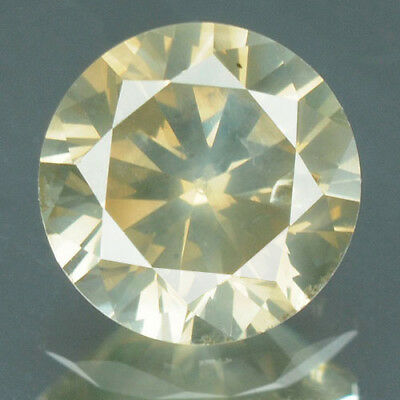 0.53 Cts CERTIFIED Round Cut SI2 Greenish Brown Color Loose Natural Diamond 6824