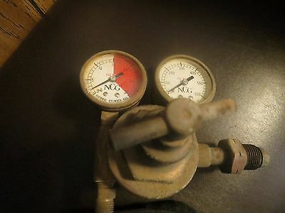 vintage national gas cylinder oxy and acetylene pressure guages