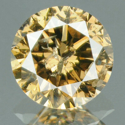 0.30 cts CERTIFIED Round Cut Vivid Coffee Brown Color Loose Natural Diamond 8784
