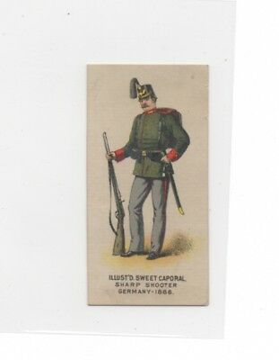 Kinney Bros Sweet Caporal Sharp Shooter Germany 1886 Tobacco Card