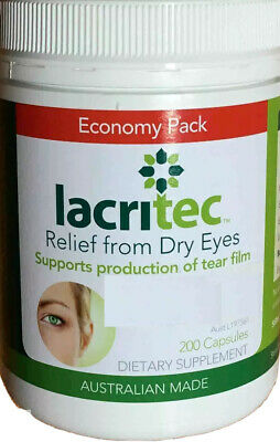 200 capsules Lacritec Relief From Dry Eyes and eye strain DHA and EPA Omega 3