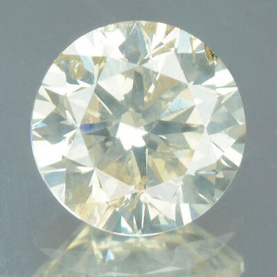 0.50 Cts CERTIFIED Round Cut SI3 Sparkly Yellow Color Loose Natural Diamond 6712