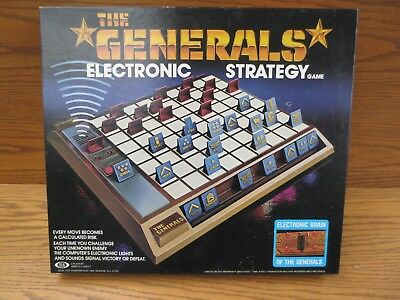 The Generals Electronic Strategy Game Never Used Complete 1980 Vintage Military