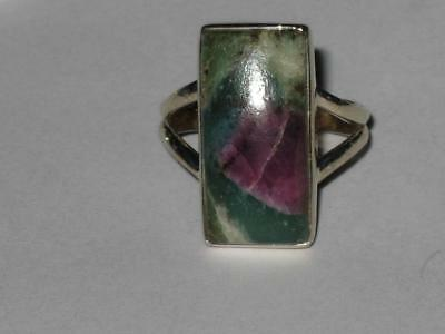 Ruby Zoisite Ring 6.5 925 Witch Estate POSITIVE ENERGY HAPPINESS PASSION LOVE
