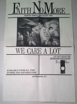 FAITH NO MORE We Care A Lot Mordam Records 1986 North American Tour POSTER