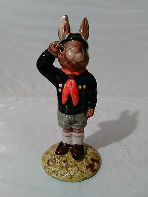 "@! Vintage Royal Doulton Be Prepared Bunnykins Db 56 4"" Copr 1986"
