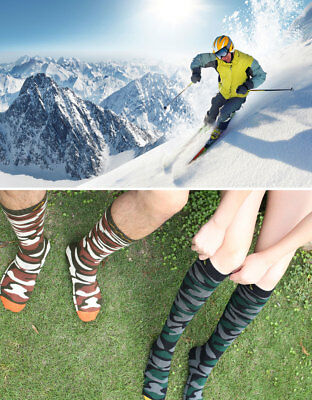 Mens Stockings Quick drying Outdoor Sport Skiing Snowboarding Socks Size 4.5-8