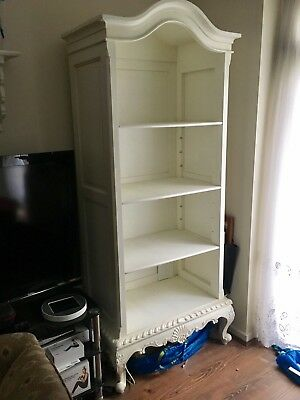 Boudoir Antique Style Bookcase Stained White