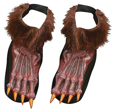 Werwolf Wolf Pelzig Fuß braun Kostüm Halloween Schuhe Covers TOP