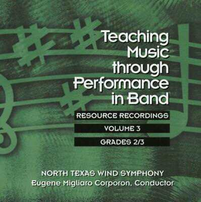 Teaching Music Through Perf Band Cd V3 Gr 2 & 3