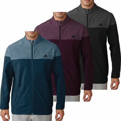 adidas Mens Hybrid Heather Fleece Lined Thermal Golf Jacket