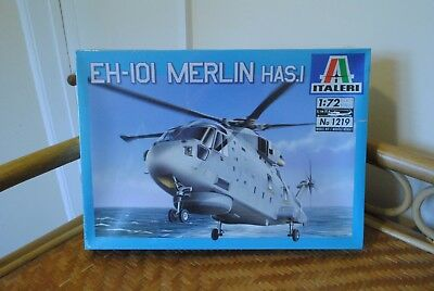 Italeri 1219 EH-101 Merlin HAS.1 Model Kit. 1/72 Scale. Sealed.