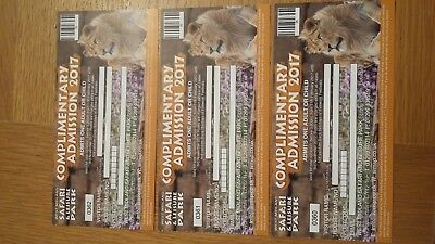 3 West midland safari park tickets used anytime adult or child