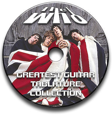 THE WHO Rock Guitar Etiketten Tablature Lied BUCH Software Anthology CD