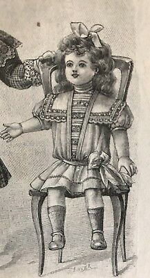 French MODE ILLUSTREE Sept 13 & 20,1908 mags & sewing PATTERN sheet Copy-DOLL