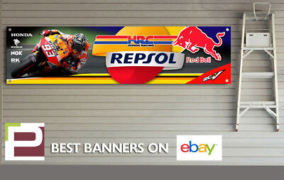 Repsol Honda Racing Banner for Workshop, Garage, Marc Marquez, Red Bull, HRC