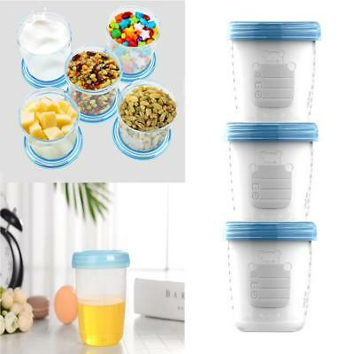 Baby Toddler Feeding Reusable Breast Milk Storage Cups 180ML Snacks Storage