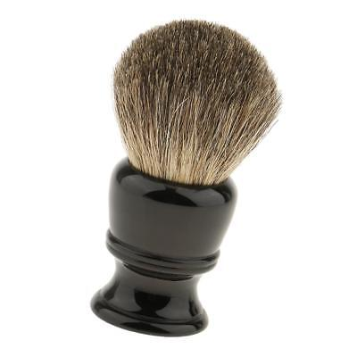 Pure Badger Hair Shaving Brush Resin Handle Barber Salon Tool Black