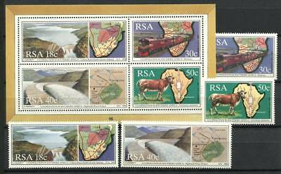 Sud Africa 1990 Mi. 789-792 Bl. 24 Nuovo ** 100% Co-Operation Block Sheetlets