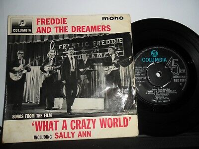 "Freddie And The Dreamers.what A Crazy World.columbia 4 Track Ep.7"".45Rpm"