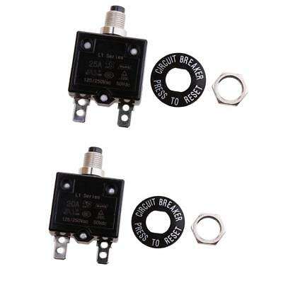 20A/25A Thermal Overload Circuit Breaker Ac / Dc Waterproof Push Button