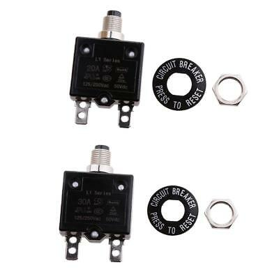 20A/30A Thermal Overload Circuit Breaker Ac / Dc Waterproof Push Button