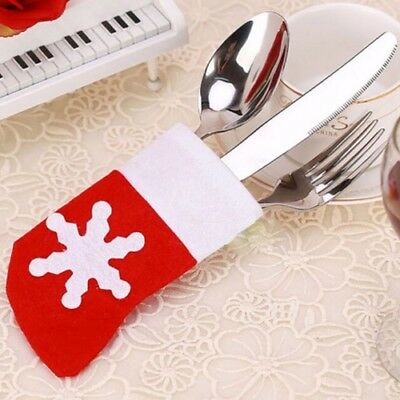 Christmas Tableware Silverware Holder Socks Cutlery Pouch Table Decoration
