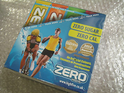 80 x High5 ZERO Electrolyte Drink Tablets Mixed Flavours 4 Tubes 20 Water Tabs