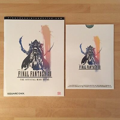 Final Fantasy XII 12 - The Official Mini Guide W/ Packaged Map Of Ivalice (RARE)