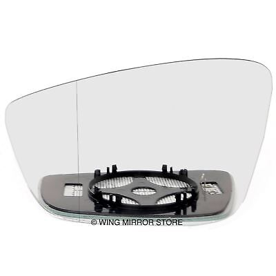 Driver side Clip Wide Angle wing mirror glass for Skoda Octavia 96-04