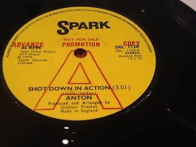 Anton Shot Down In Action SRL1120 1975 Advance Promo Ex Glam
