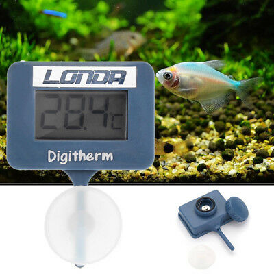 LCD Digital Thermomètre Température Poisson Tank Aquarium Eau Succion Coupe