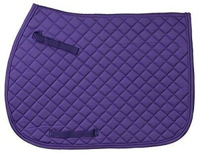 Black  w//shock absorbing foam EquiRoyal Quilted Cotton Saddle Pad NWOT