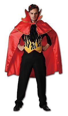 Sexy Adult Men's Red Hot Devil Costumes Boys Halloween Fancy Dress Party Outfit