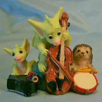 Pocket Dragons Quartet Musicians NEW MIB Ol Store Stock Cello Piano Drum Horn