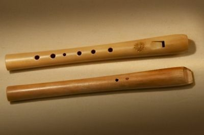Wooden Recorder in D key (block flute, flute, whistle) - TUNED!