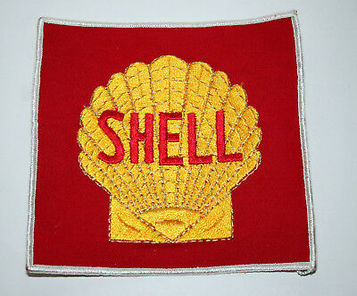 Shell Oil & Gas Service Station Large Back of Jacket Cloth Patch New NOS 1960s