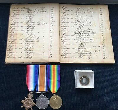 WW1 War Medals And Personal Log Of C.H.Reed RN