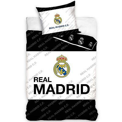 Real Madrid Cf 100% Cotton Duvet Cover Bedding Set New Euro Single