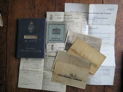 Merchant Navy Continuous Certificate Of Discharge And Papers 1924 -7