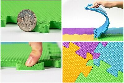 Interlocking Kids Children Soft Eva Foam Floor Play Activity Mat Tiles - 9 Pack