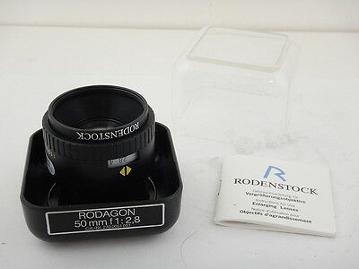 Rodenstock Rodagon 50mm f2.8 Scatola Box Excellent + Instructions Durst IFF