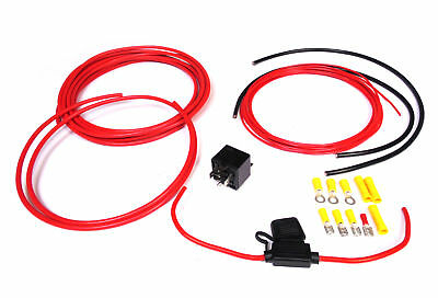 Wiring / Fitting Kit inc Relay for Aftermarket 12 Volt Cooling Fans Automotive