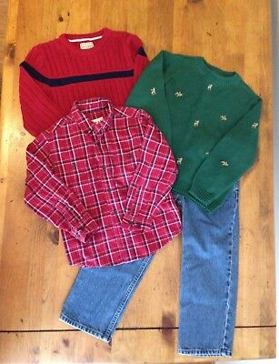 Lot of 4 Boys Fall/Winter Clothes Size 6 Sweaters, Jeans, Button Down