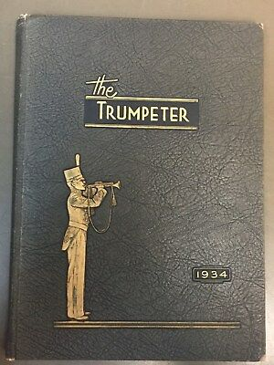 The Trumpeter 1934 Yearbook, St John's Military Academy, Delafield Wisconsin