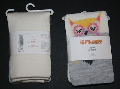 New Gymboree Outlet Gray Ivory Owl Knee Tights NWT Size 4 5 6 7 8 10 12 Year