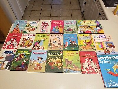 Lot of 20 Childrens Books Walt Disney Vintage, Dr Seuss, Sounds of the Wild